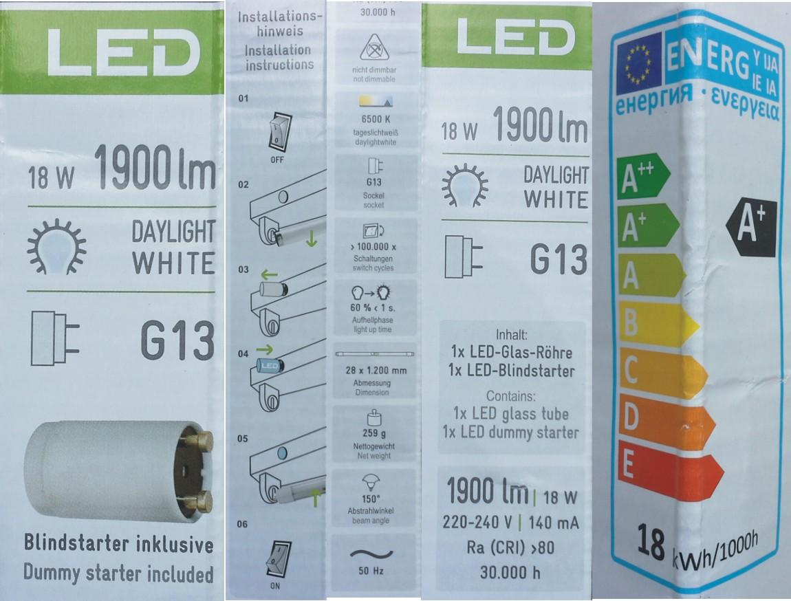 mueller licht led lysrör förpackning